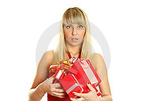 Beautiful Christmas Woman Stock Photos - Image: 17412123