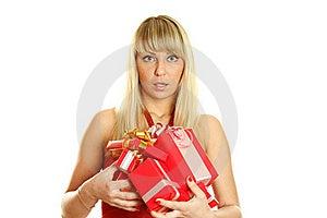 Beautiful Christmas Woman Stock Photos - Image: 17412123