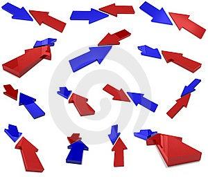 Flechas De La Colisión Imágenes de archivo libres de regalías - Imagen: 17412599