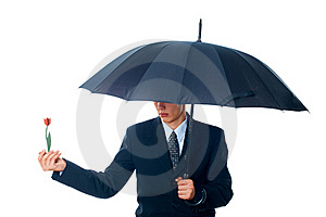 Young Man With An Umbrella Royalty Free Stock Photos - Image: 17412638