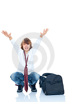 Boy Traveler Stock Image - Image: 17412871