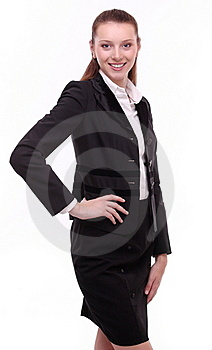 Portrait Of Positive Young Business Woman. Royalty Free Stock Photos - Image: 17413538