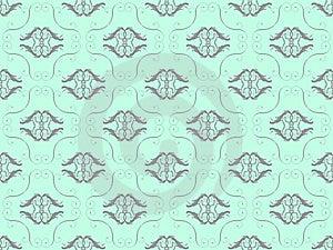 Blue Damask Seamless Wallpaper Royalty Free Stock Photos - Image: 17415318