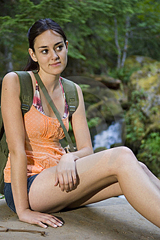 Young Woman Hiking In Summer Stock Images - Image: 17416824