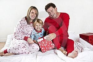 Family On Christmas Morning Royalty Free Stock Image - Image: 17417306