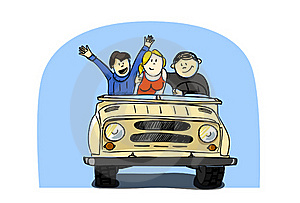 Driving With Friends Stock Photo - Image: 17420920