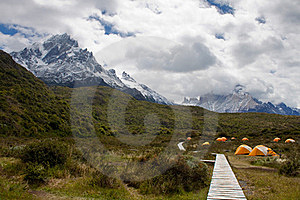 Camping In Torres Del Paine Stock Image - Image: 17421201