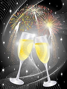 Champagne Party Glasses Stock Images - Image: 17423044