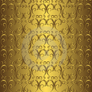Golden Seamless Pattern Stock Photography - Image: 17430442