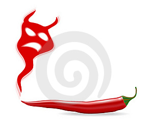 Chili Pepper With Devil Shadow Royalty Free Stock Photo - Image: 17430665
