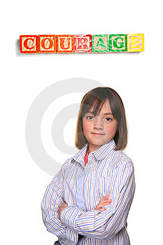 Showing Courage. Stock Photography - Image: 17431282