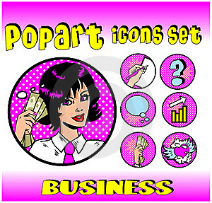 Business Money Top Signs Emblems Royalty Free Stock Photo - Image: 17433725