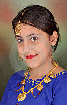 Punjabi Girl In Side Pose Royalty Free Stock Photography - Image: 17434677