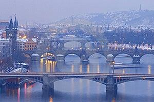 Prague Bridges Royalty Free Stock Photo - Image: 17435115