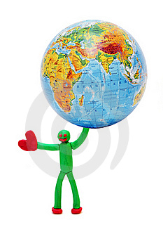 Person Will Rescue The Planet Royalty Free Stock Images - Image: 17438959