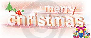 Merry Christmas Pink Text/Vector Royalty Free Stock Image - Image: 17439056