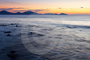 Colorful Sunrise On The Rocky Coast Stock Image - Image: 17439441