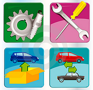 Auto Service Icons Royalty Free Stock Photo - Image: 17441775
