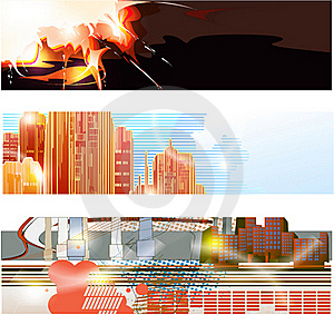 Abstract Trendy Banner Stock Image - Image: 17441801