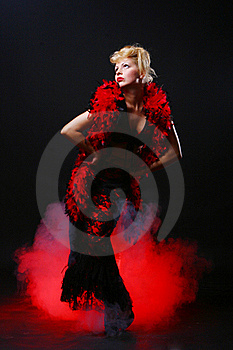 Beautiful And Luxury Woman On Black Background Royalty Free Stock Photos - Image: 17444228