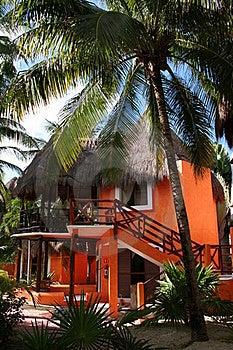 Palapa In Playa Del Carmen - Mexico Royalty Free Stock Image - Image: 17448106