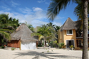 Palapa In Playa Del Carmen - Mexico Stock Photography - Image: 17448192