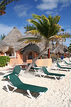 Palapa In Playa Del Carmen - Mexico Stock Photography - Image: 17448232