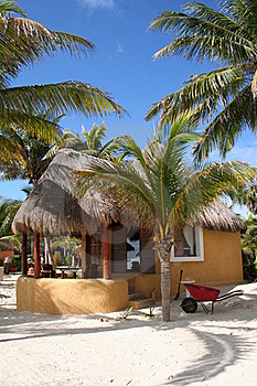 Palapa In Playa Del Carmen - Mexico Stock Photography - Image: 17448262