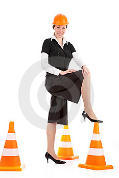 Business Woman Ordering Employees Royalty Free Stock Images - Image: 17448269