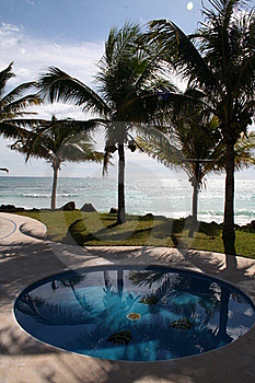 The Pool At Playa Del Carmen - Mexico Royalty Free Stock Photo - Image: 17448435