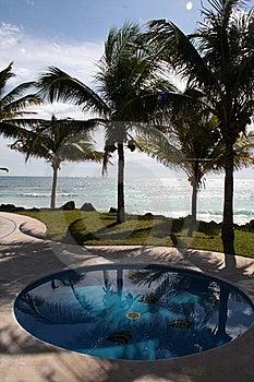 The Pool At Playa Del Carmen - Mexico Royalty Free Stock Photo - Image: 17448435