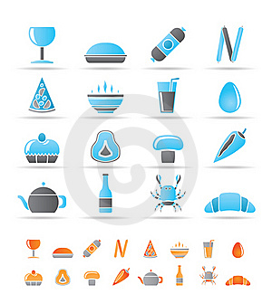 Shop, Food And Drink Icons Royalty Free Stock Photography - Image: 17448587