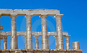 Poseidon Temple Near Athens, Greece Royalty Free Stock Image - Image: 17449766