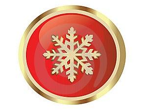Gouden Sneeuwvlok Stock Fotografie - Afbeelding: 17450652
