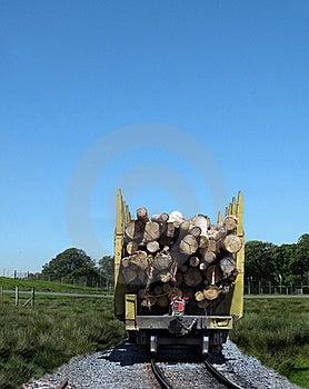 Logging Train Stock Image - Image: 17450771