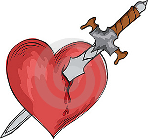 Sword And Heart Royalty Free Stock Photo - Image: 17452245