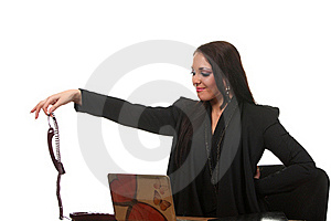 Businesswoman On The Workspace Royalty Free Stock Photo - Image: 17452475