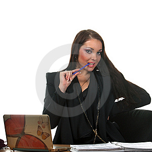 Businesswoman On The Workspace Stock Photo - Image: 17452480