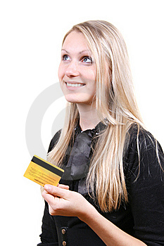 Woman Thinking About Shopping Royalty Free Stock Image - Image: 17453316