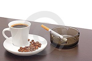 Coffee And Cigarettes Stock Image - Image: 17455091