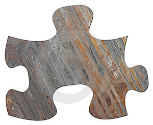 Slate Jigsaw Puzzle Piece Stock Photos - Image: 17455103