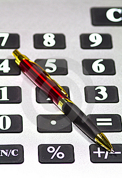Calculator And Pen Stock Images - Image: 17455964