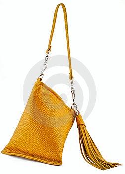 Yellow Ladies Handbag Stock Image - Image: 17460221