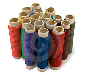 Group Of Spool Of Thread Royalty Free Stock Images - Image: 17460259
