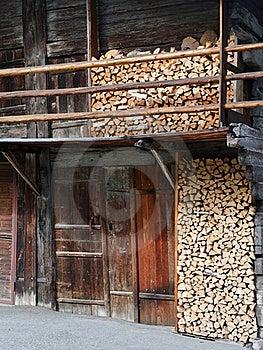 Wood Storage, Switzerland Stock Photography - Image: 17460342