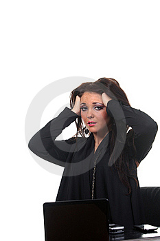 Businesswoman On The Workspace Royalty Free Stock Images - Image: 17461839