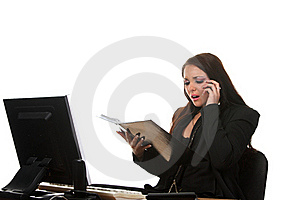 Businesswoman On The Workspace Stock Image - Image: 17461841