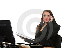 Businesswoman On The Workspace Stock Photography - Image: 17461842