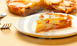 Caramel Apple Tart Slice Stock Photo - Image: 17461870