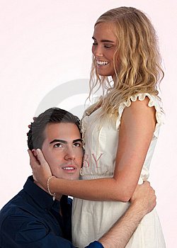 Expecting Gorgeous Couple, Listening To  Belly Stock Images - Image: 17462254